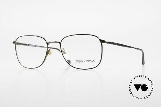 Giorgio Armani 236 Eckige Panto Vintage Brille Details