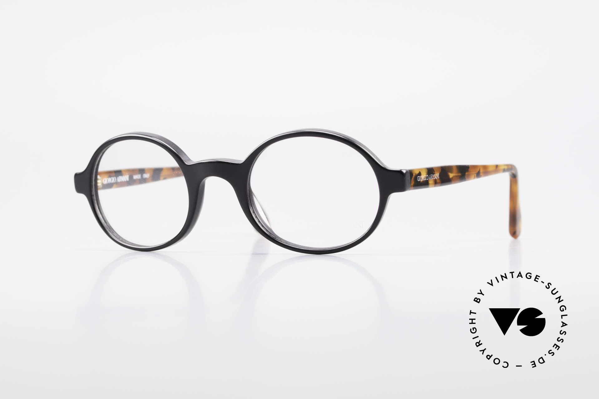 Giorgio Armani 308 Ovale 80er Vintage Fassung, zeitlose 1980er Giorgio ARMANI Designer-Fassung, Passend für Herren und Damen