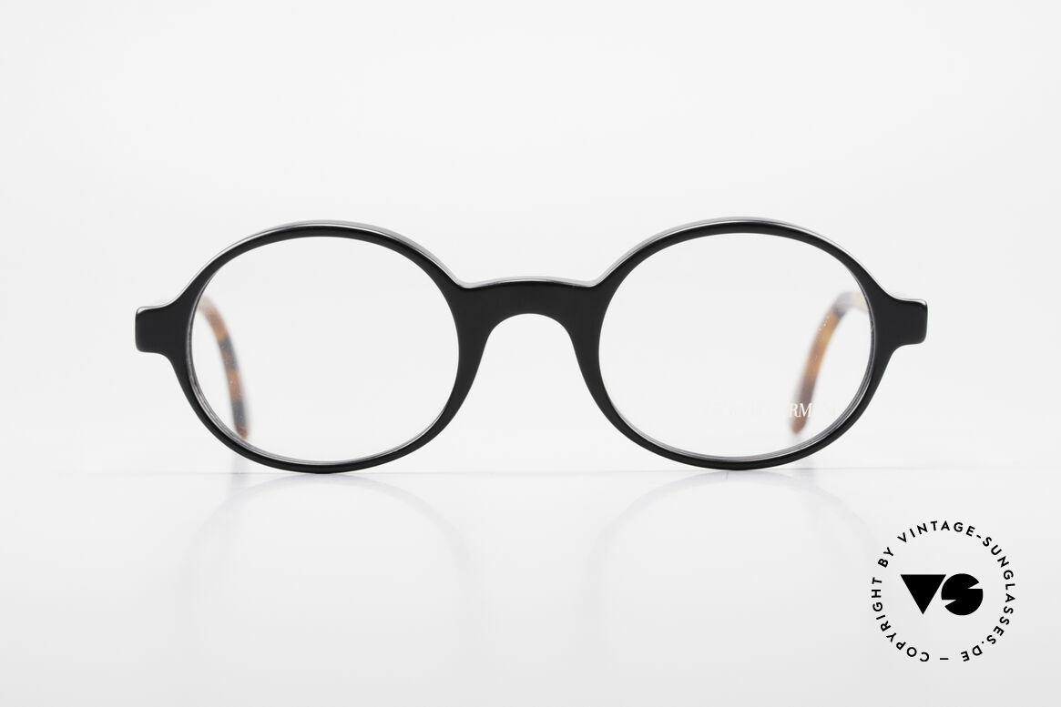 Giorgio Armani 308 Ovale 80er Vintage Fassung, ovale Brillen-Form mit tollem Mosaik-Bügelmuster, Passend für Herren und Damen