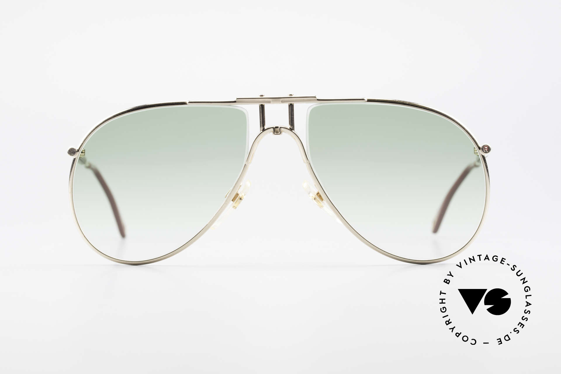 Aigner EA3 Echt 80er Vintage Sonnenbrille, nobel modifizierte Pilotenform in elegantem Farbton, Passend für Herren