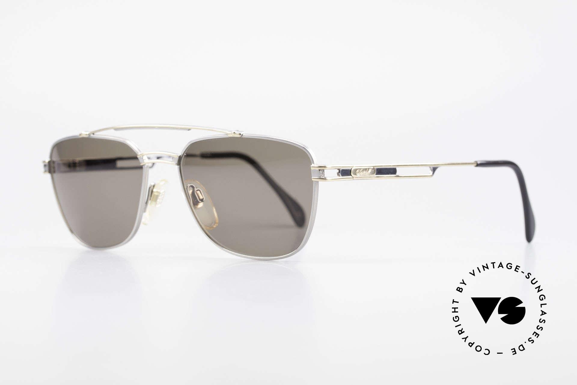"""Davidoff 708 Elegante Herren Sonnenbrille, Fassung in einer einzigartigen """"Titan/Gold""""-Lackierung, Passend für Herren"""