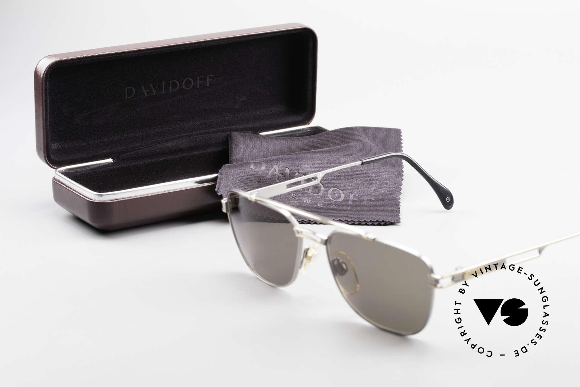 Davidoff 708 Elegante Herren Sonnenbrille, Größe: medium, Passend für Herren