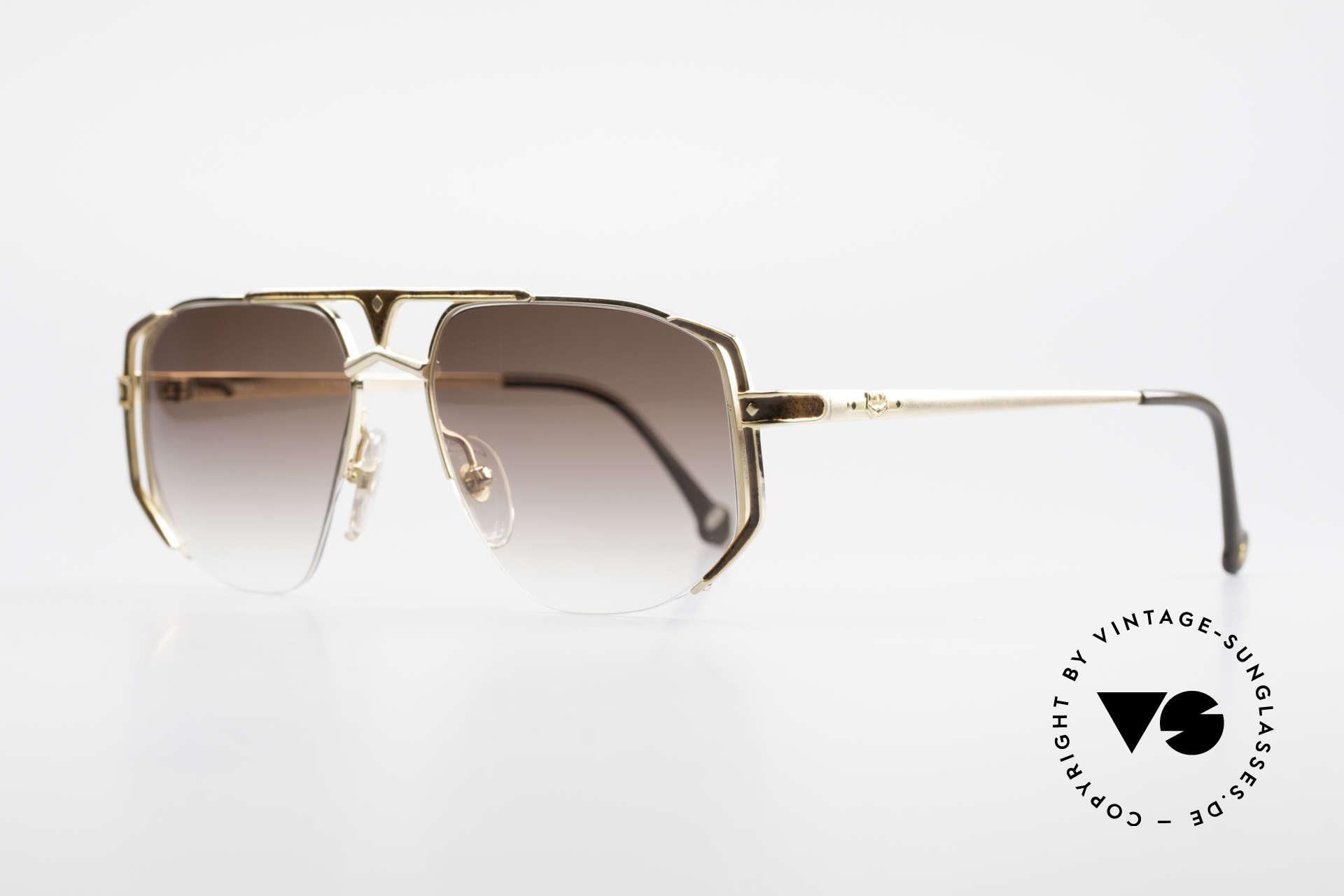 MCM München 5 Titanium Sonnenbrille Large, Luxus-Sonnenbrille von Michael Cromer, München, Passend für Herren