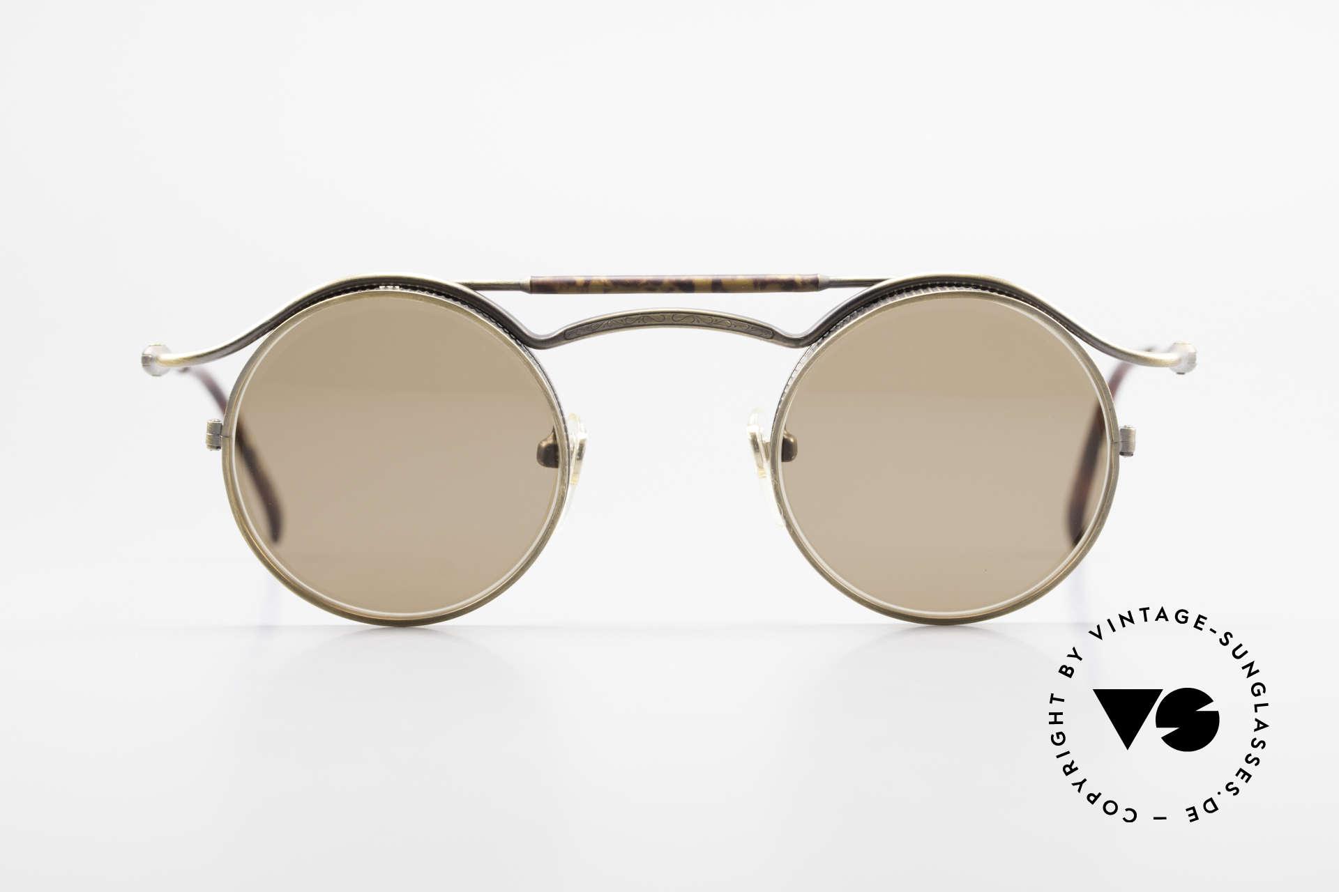 Matsuda 2903 90er Steampunk Sonnenbrille, 'Steampunk-Sonnenbrille' der jap. 'Design-Manufaktur', Passend für Herren und Damen