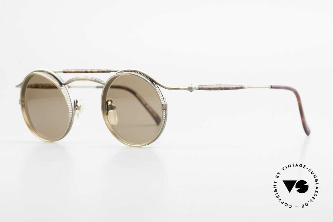 """Matsuda 2903 90er Steampunk Sonnenbrille, viele interessante Rahmendetails im """"Retro-Futurismus"""", Passend für Herren und Damen"""