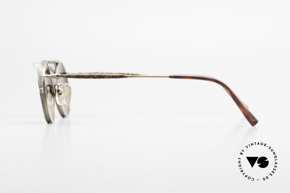 Matsuda 2903 90er Steampunk Sonnenbrille, also einer Sicht auf die Zukunft, aus einer früheren Zeit, Passend für Herren und Damen