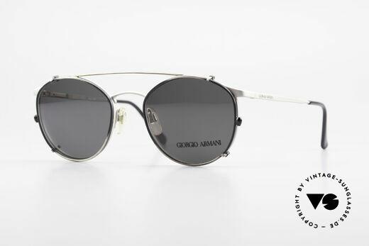Giorgio Armani 163 Clip On 132 Panto Sonnenbrille Details
