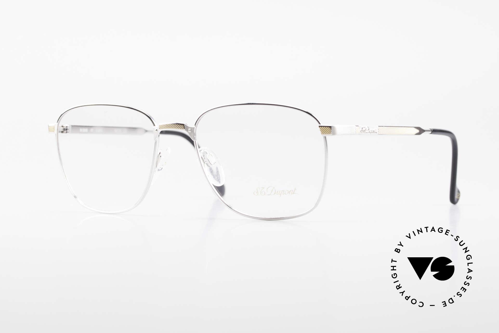 S.T. Dupont D048 90er Luxus Brillenfassung 23kt, klassische S.T. Dupont Herren Luxus-Brillenfassung, Passend für Herren
