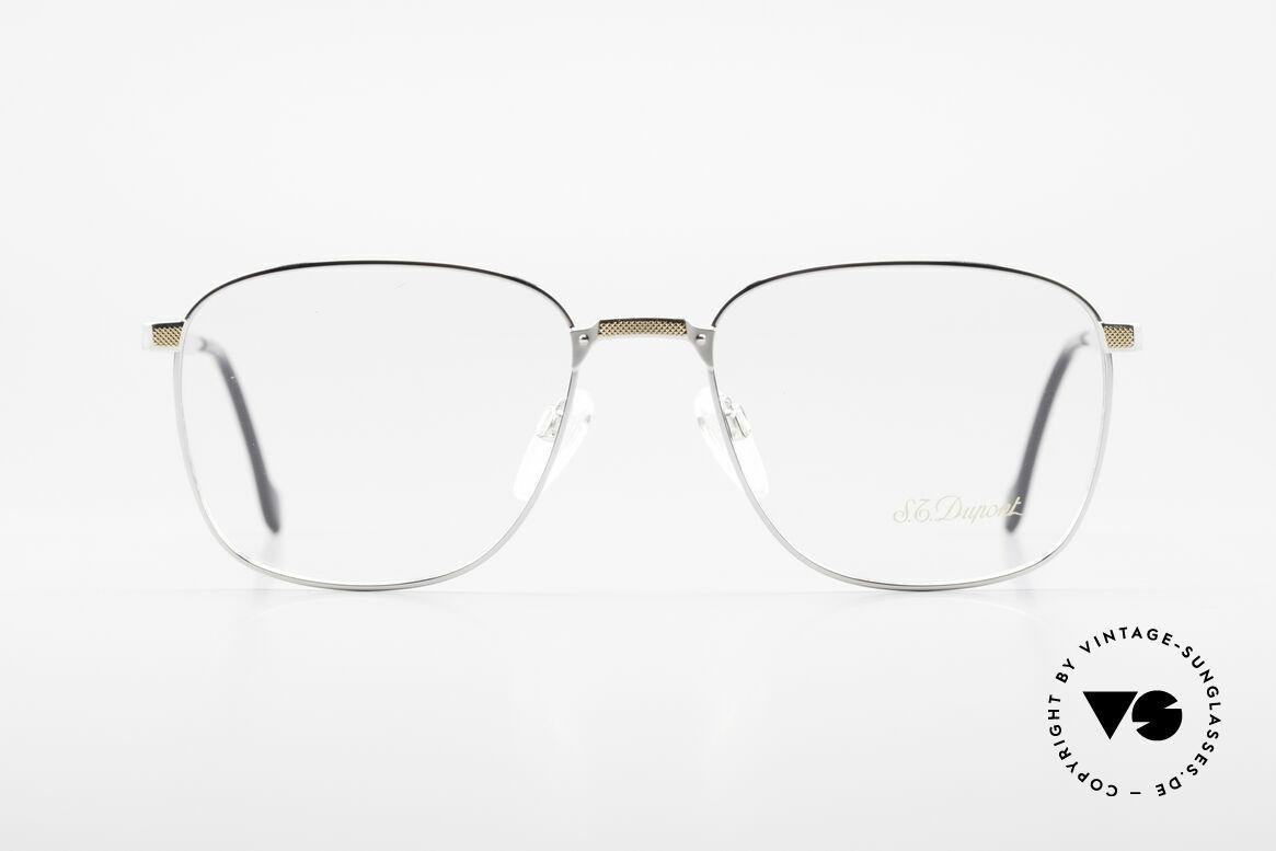 S.T. Dupont D048 90er Luxus Brillenfassung 23kt, hochwertige Verarbeitung & Top-Passform, Gr. 56°18, Passend für Herren