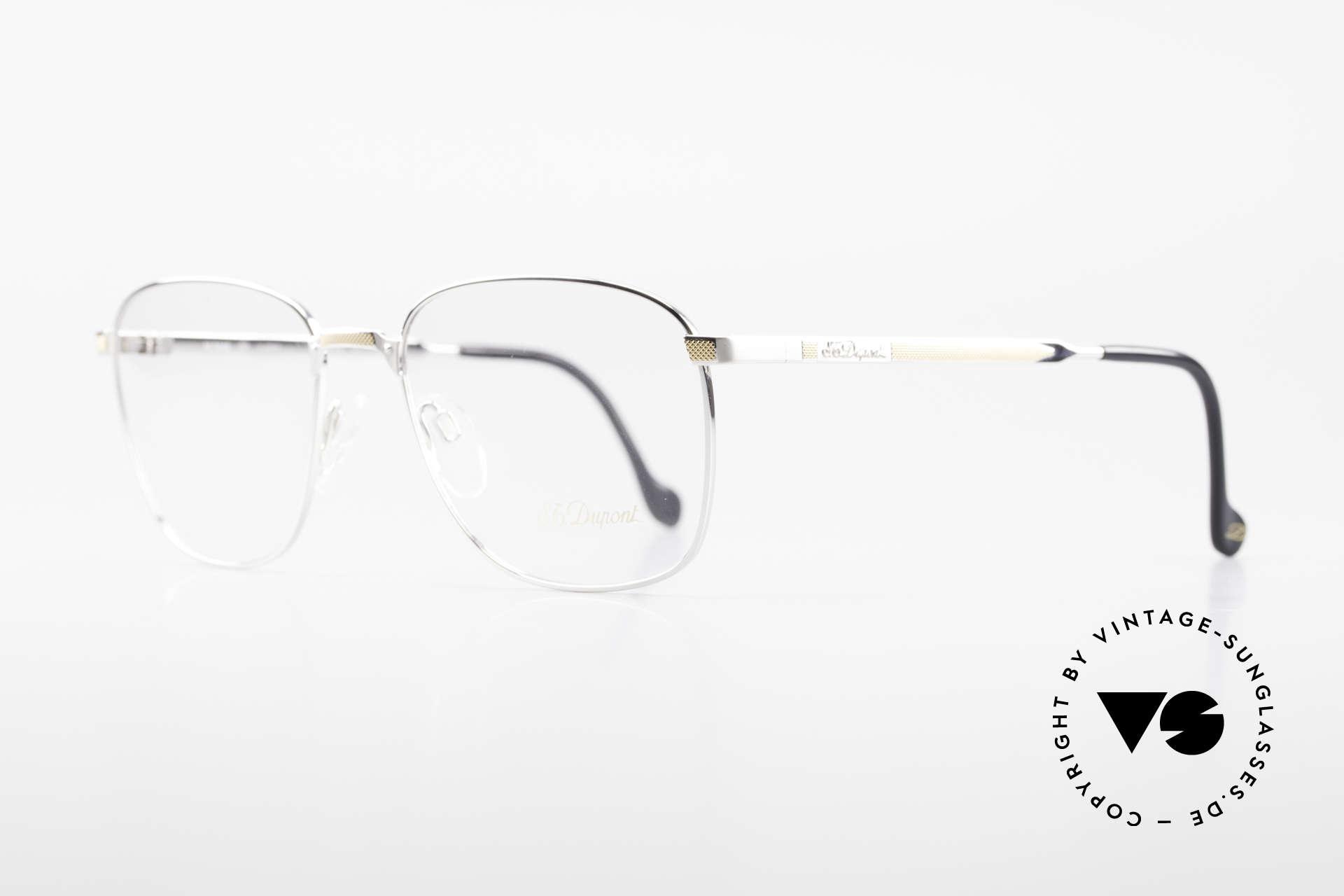 S.T. Dupont D048 90er Luxus Brillenfassung 23kt, äußerst edel (S.T. Dupont Modelle sind 23kt vergoldet), Passend für Herren