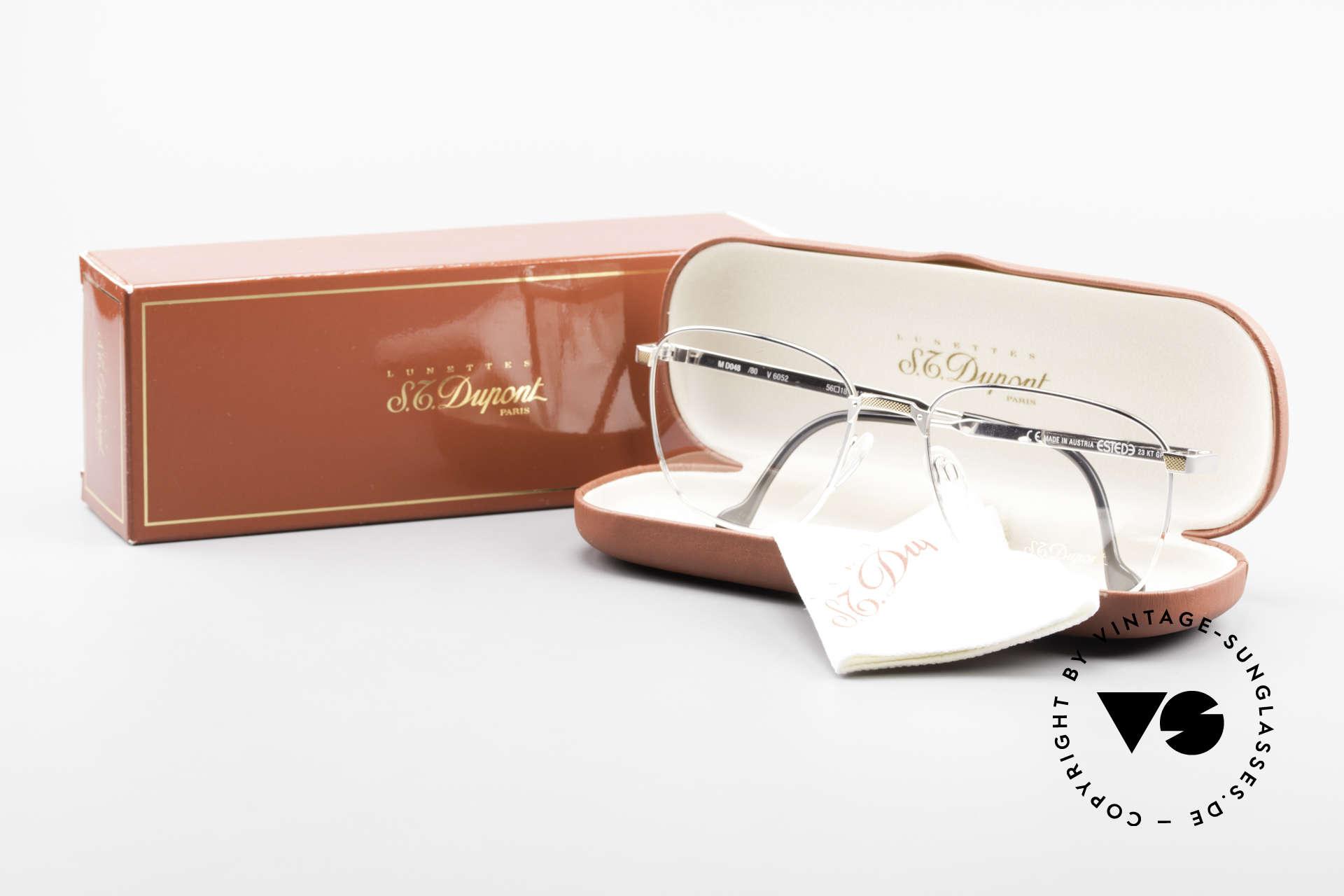 S.T. Dupont D048 90er Luxus Brillenfassung 23kt, Größe: large, Passend für Herren