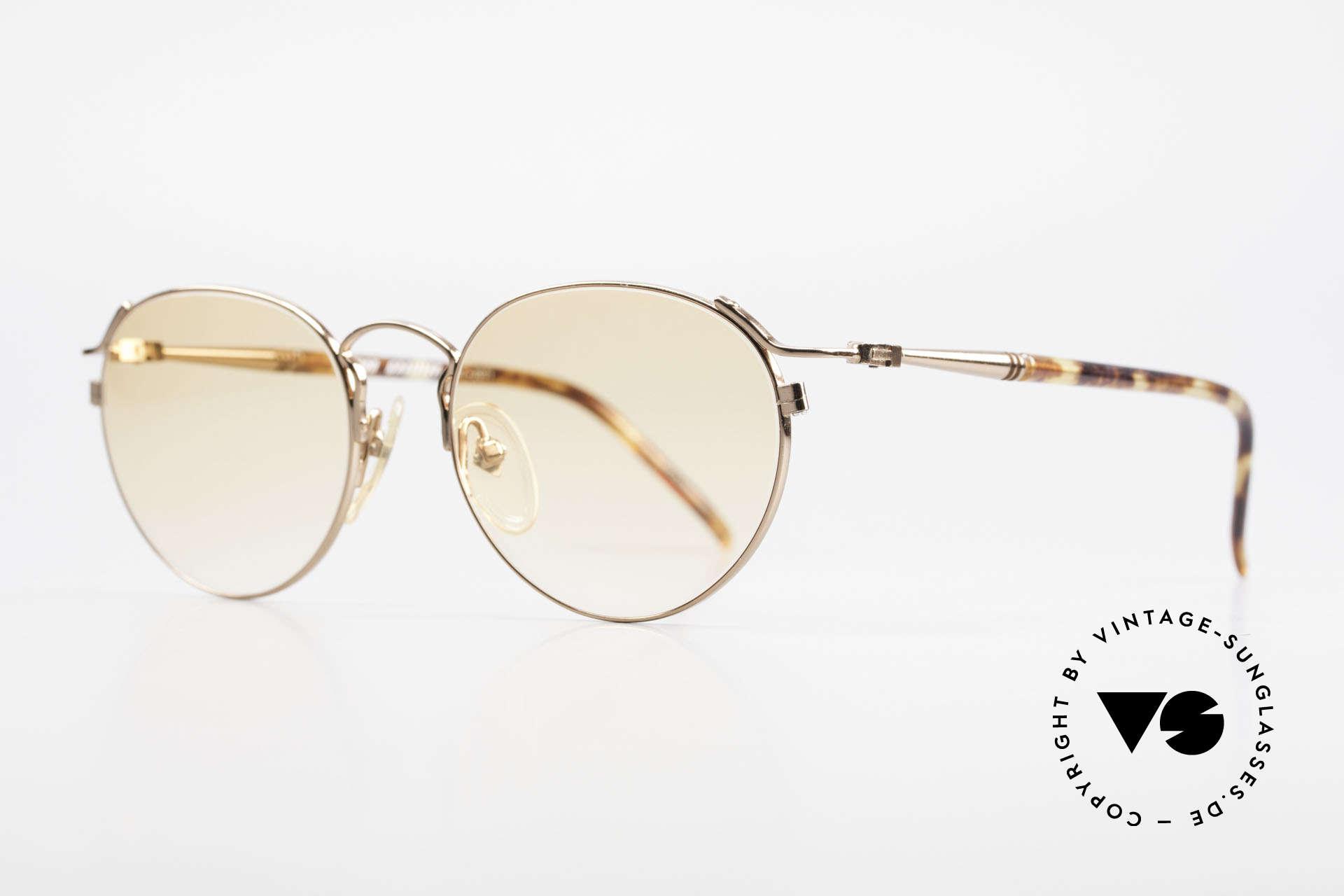 Jean Paul Gaultier 57-2271 Junior Gaultier Vintage Brille, edle Kombination der Formen, Farben & Materialien, Passend für Herren und Damen