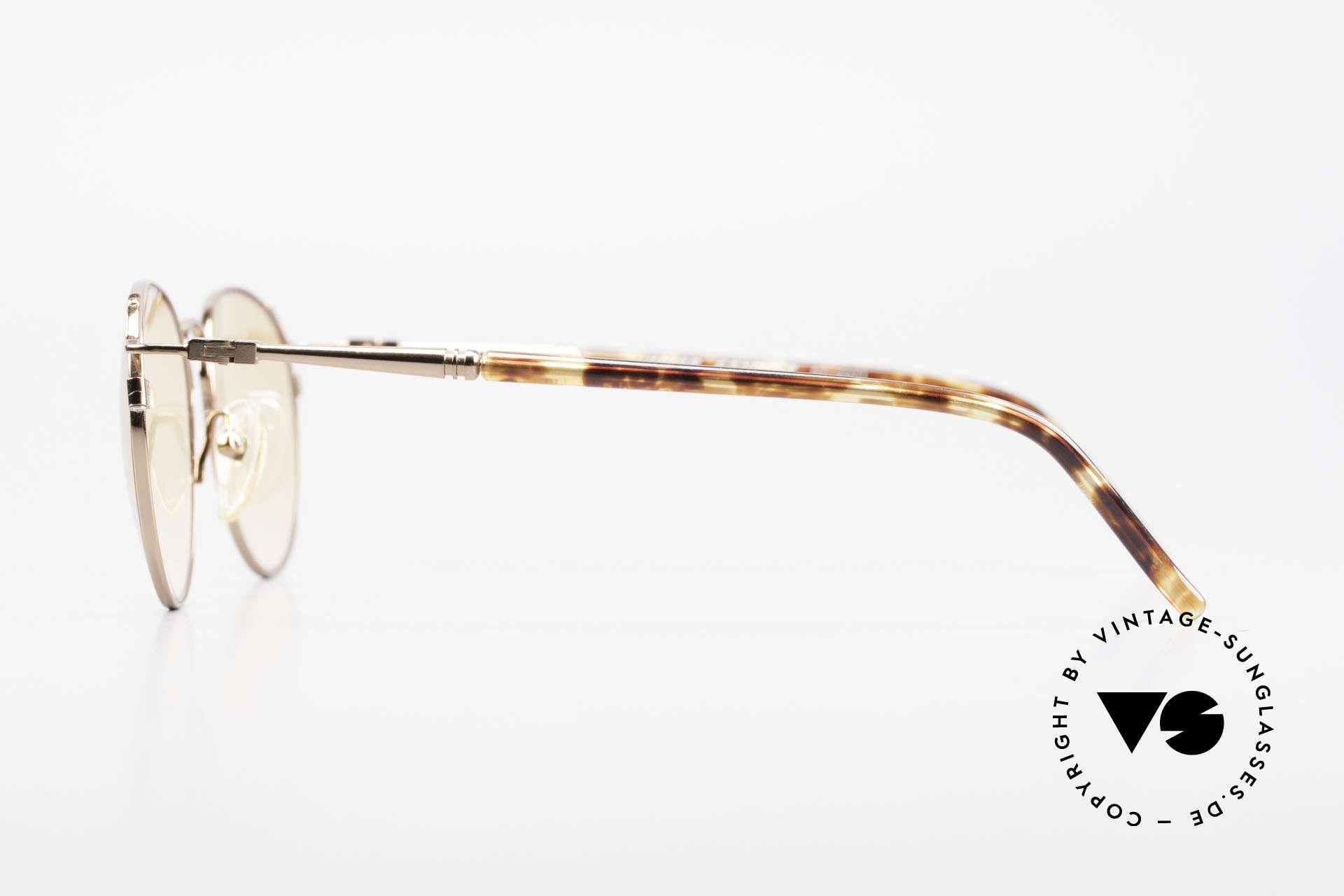Jean Paul Gaultier 57-2271 Junior Gaultier Vintage Brille, ungewöhnlich Rahmenform; kupfer & orange Gläser, Passend für Herren und Damen