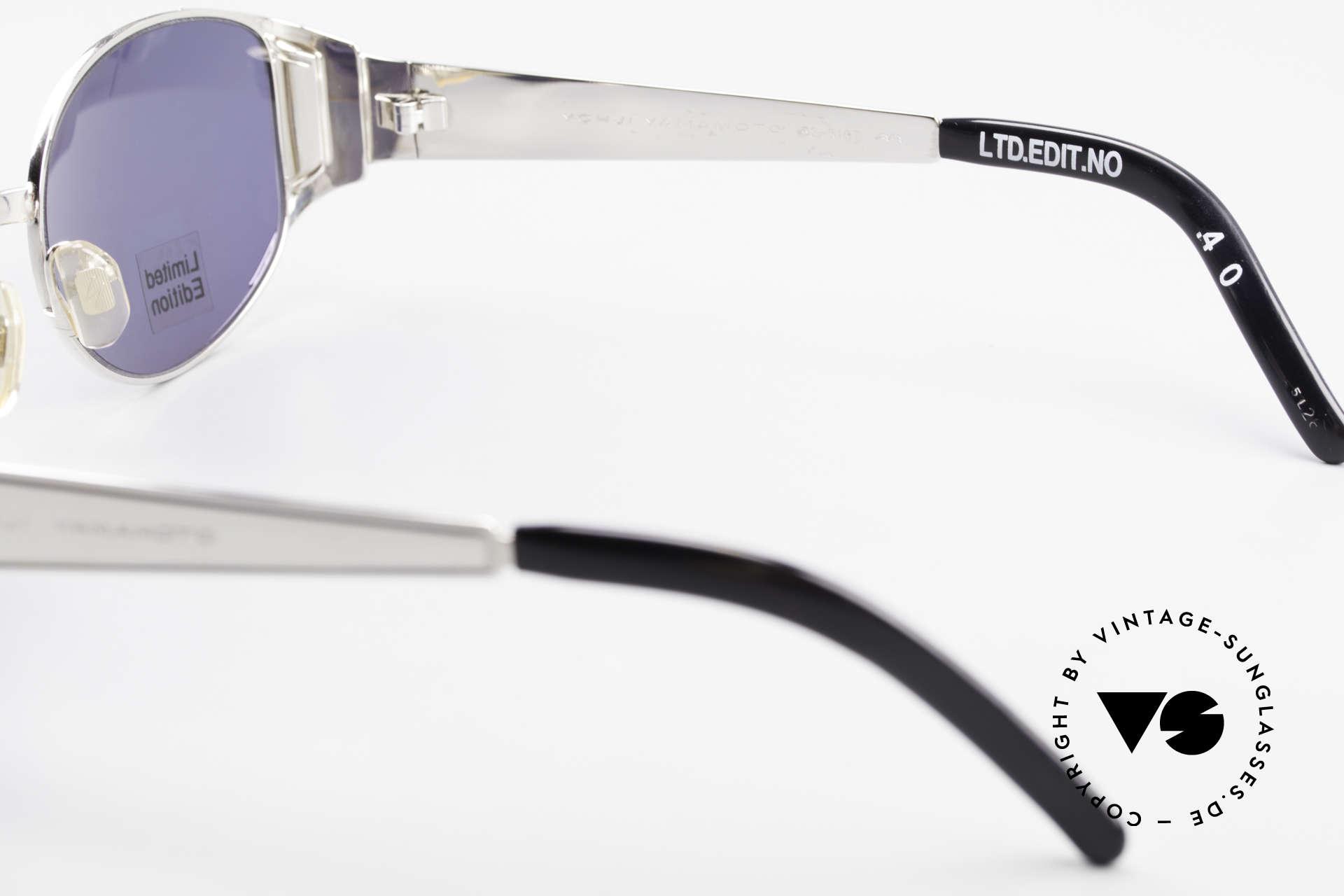 Yohji Yamamoto 52-5107 Limitierte Avantgarde Brille, KEINE Retromode; sondern ein Yamamoto 90er ORIGINAL, Passend für Herren und Damen
