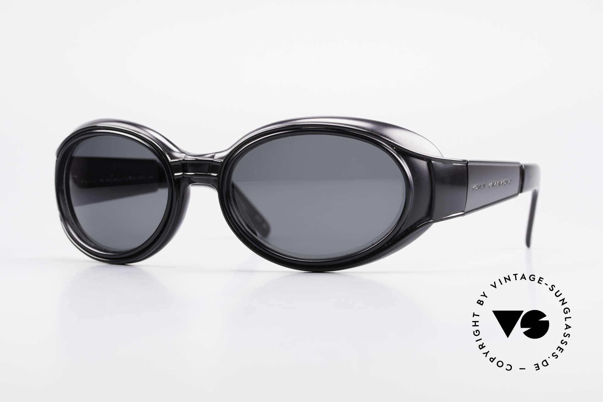 Yohji Yamamoto 52-6202 Sportliche XL Sonnenbrille, extrem RARE vintage Yohji Yamamoto Sonnenbrille!, Passend für Herren und Damen