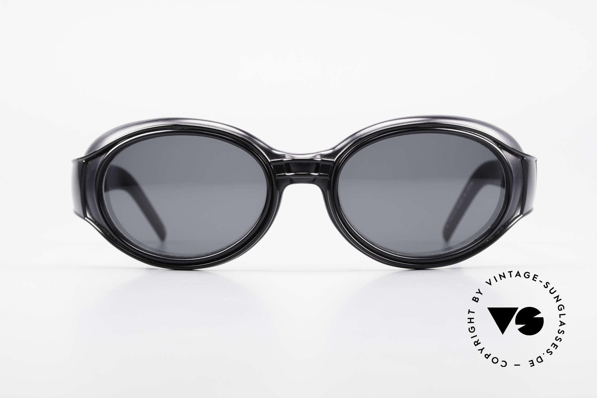 Yohji Yamamoto 52-6202 Sportliche XL Sonnenbrille, 'Industrial' Rahmenkonstruktion; STEAMPUNK STIL, Passend für Herren und Damen