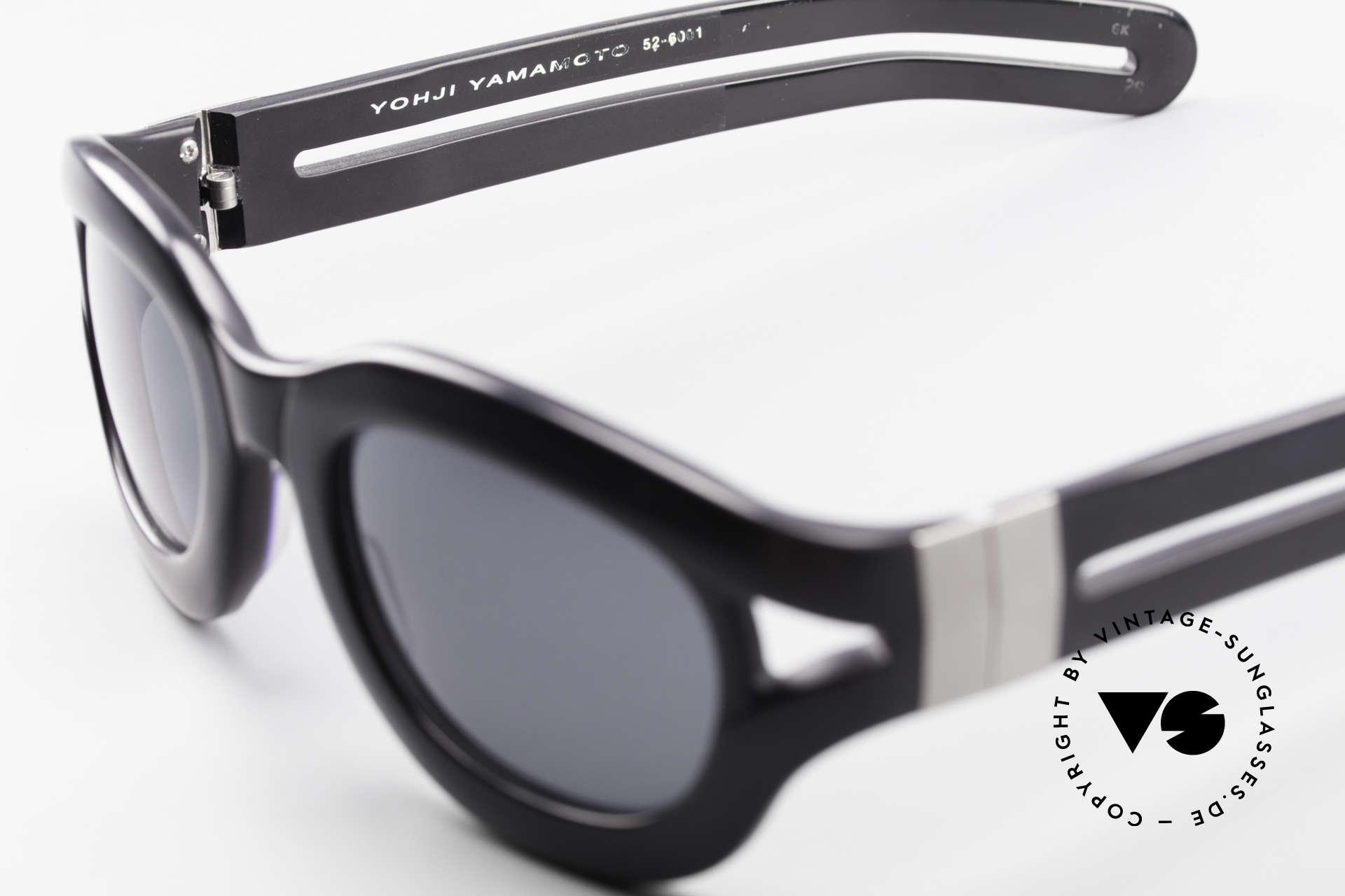 Yohji Yamamoto 52-6001 YY 90er Designer Sonnenbrille, Größe: large, Passend für Herren und Damen