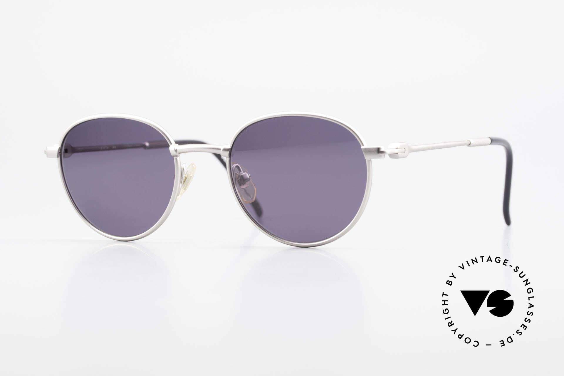 Yohji Yamamoto 52-4102 Panto Designer Sonnenbrille, Yohji Yamamoto Designer-Sonnenbrille im Panto-Stil, Passend für Herren und Damen