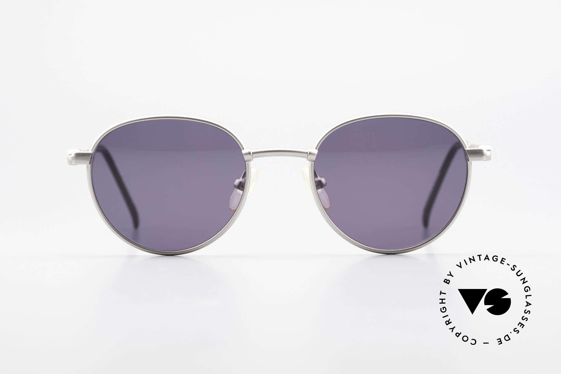 Yohji Yamamoto 52-4102 Panto Designer Sonnenbrille, eher ein schlichtes Design aus dem Hause Yamamoto, Passend für Herren und Damen