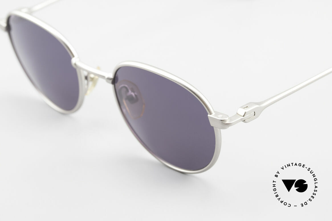 Yohji Yamamoto 52-4102 Panto Designer Sonnenbrille, aus dieses Exemplar scheint für die Ewigkeit gemacht, Passend für Herren und Damen