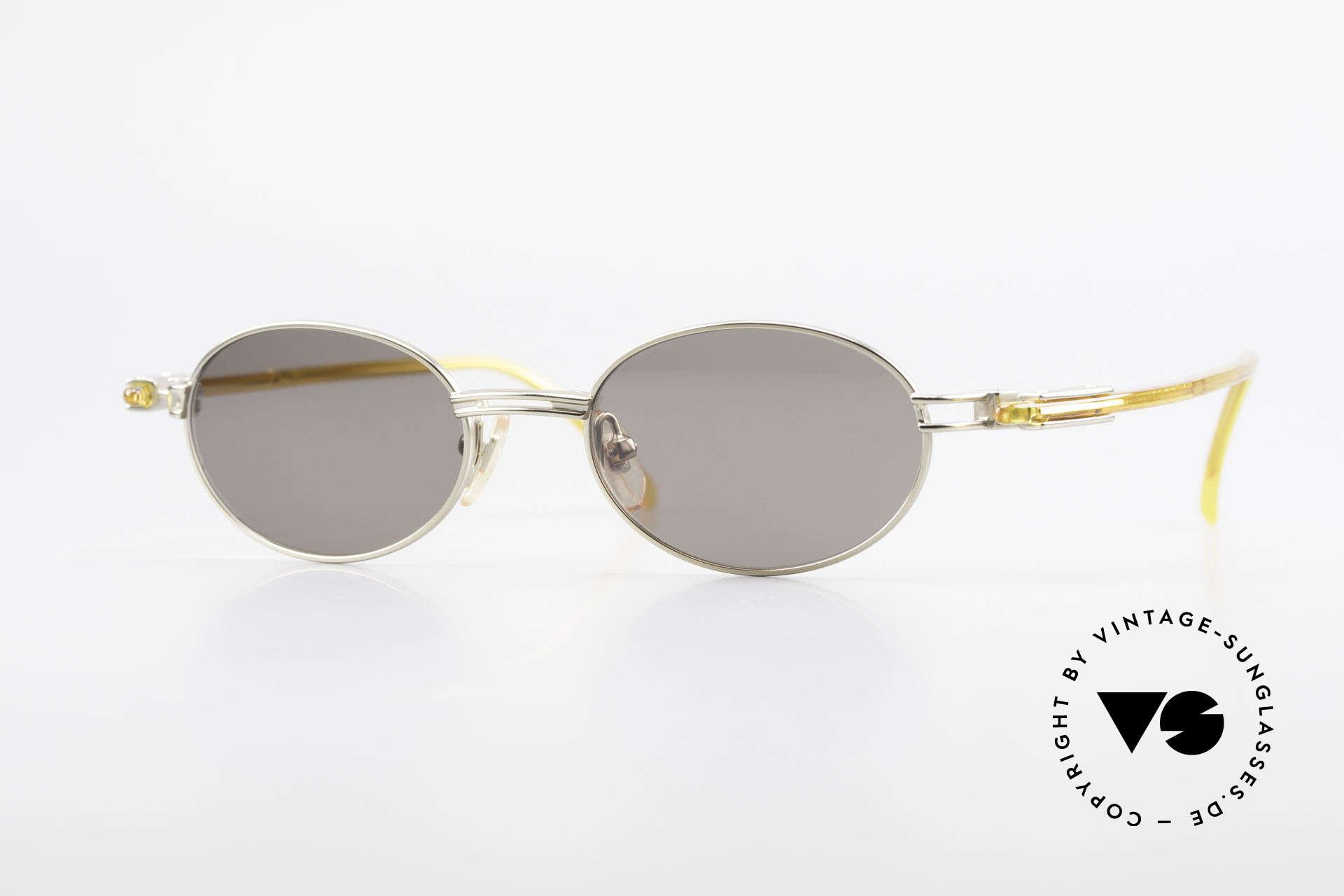 Yohji Yamamoto 52-7202 Designerbrille Oval Vintage, sportliche ovale vintage YOHJI YAMAMOTO Sonnenbrille, Passend für Herren und Damen