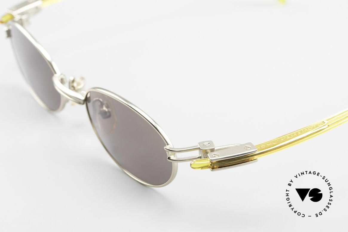 Yohji Yamamoto 52-7202 Designerbrille Oval Vintage, ungetragen (wie alle unsere vintage Design-Sonnenbrillen), Passend für Herren und Damen