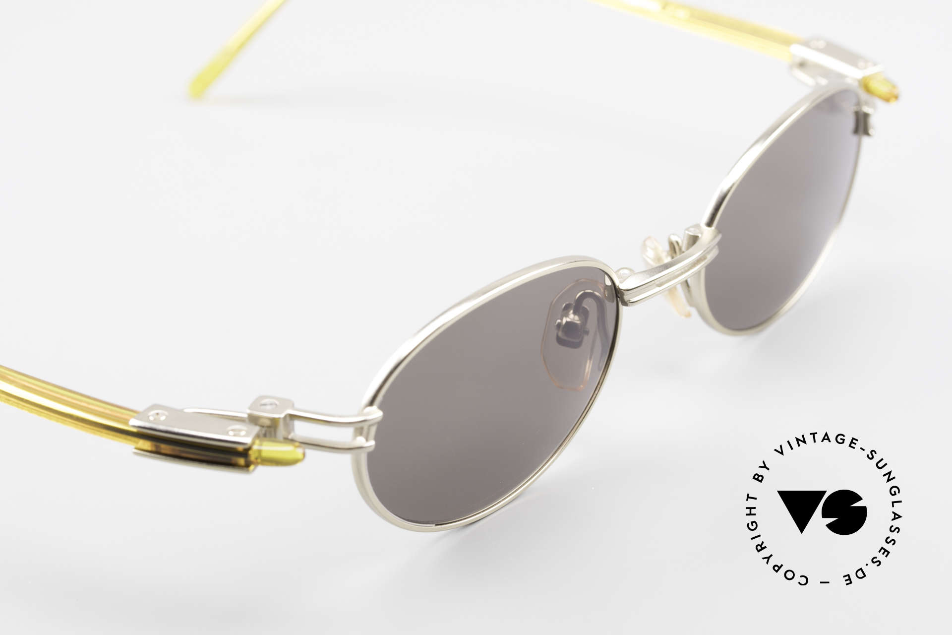Yohji Yamamoto 52-7202 Designerbrille Oval Vintage, KEINE Retromode; ein Yamamoto Original von 1997 in XL, Passend für Herren und Damen
