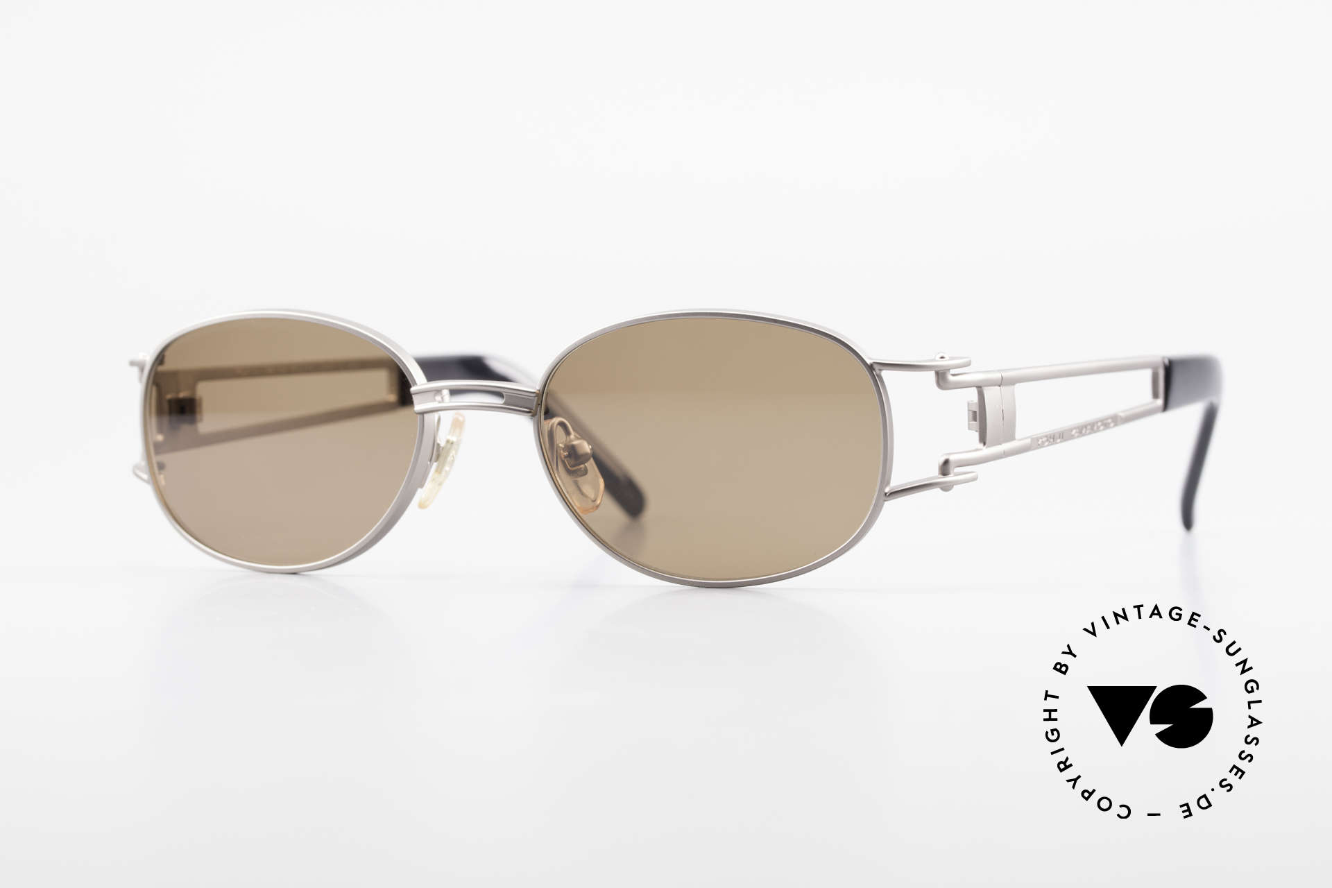 Yohji Yamamoto 52-6106 Vintage Designerbrille Oval, klassisch ovale vintage Sonnenbrille von Yohji Yamamoto, Passend für Herren und Damen