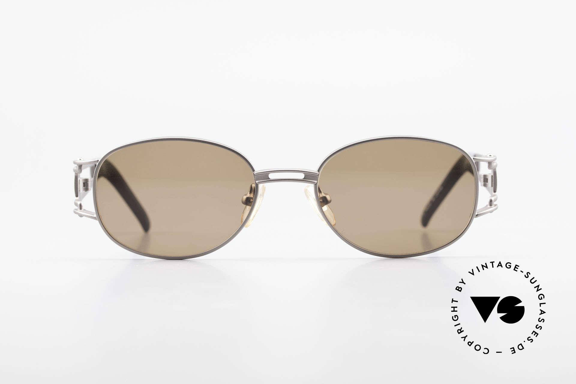 Yohji Yamamoto 52-6106 Vintage Designerbrille Oval, subtiles aber außergewöhnliches 90er Design; Avantgarde, Passend für Herren und Damen