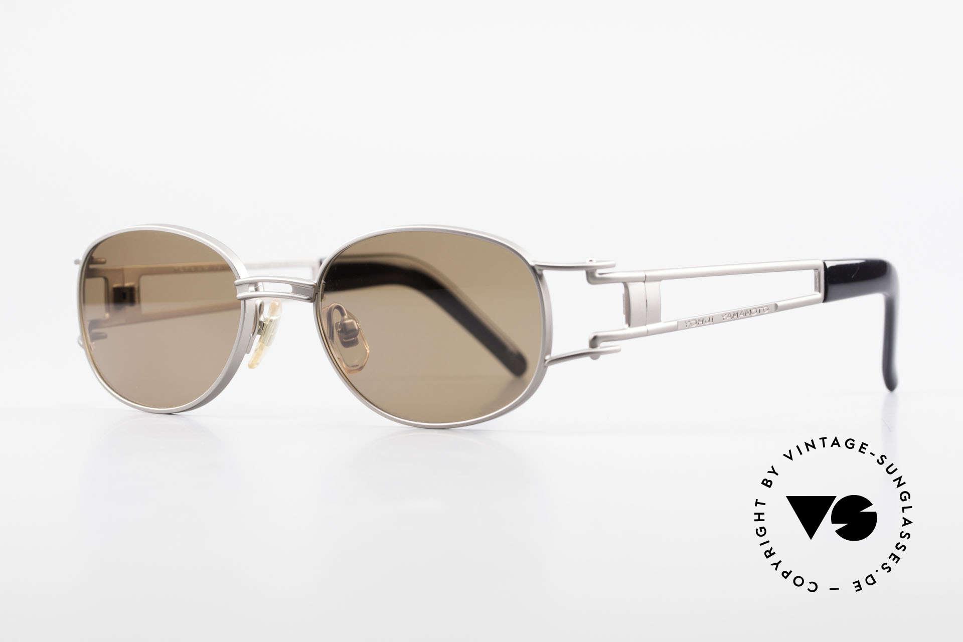 Yohji Yamamoto 52-6106 Vintage Designerbrille Oval, herausragende Qualität aller Komponenten: made in Japan, Passend für Herren und Damen