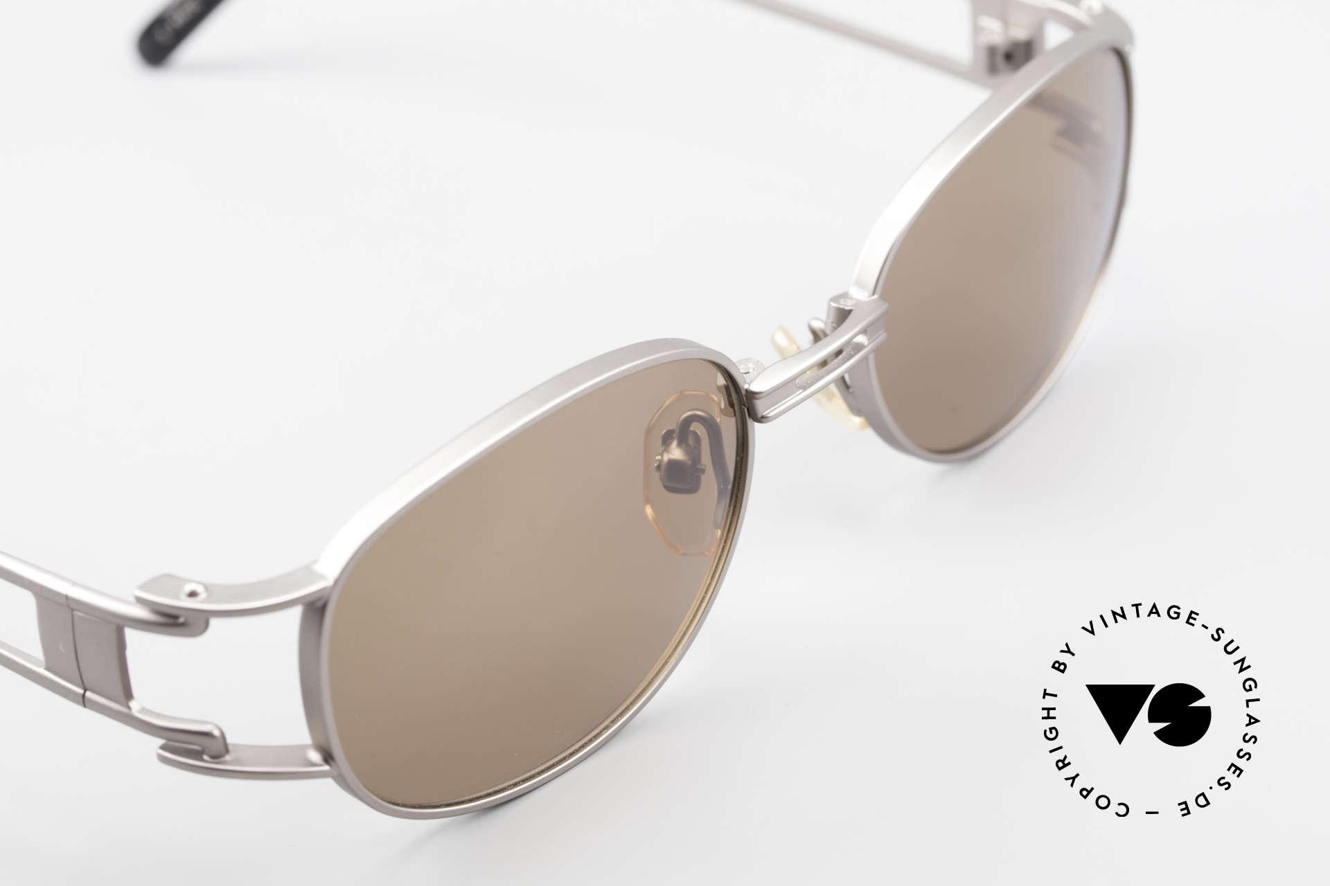 Yohji Yamamoto 52-6106 Vintage Designerbrille Oval, KEINE Retromode; sondern ein Yamamoto Original von '97, Passend für Herren und Damen