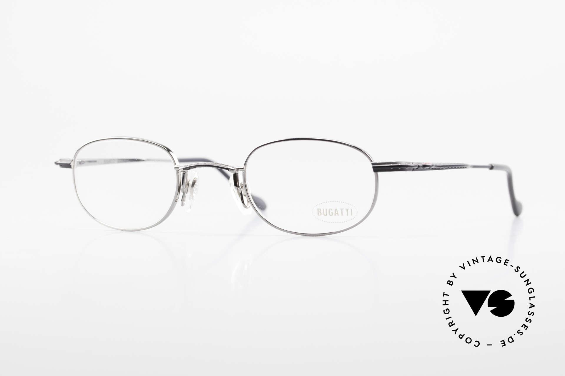 Bugatti 23562 Rare 90er Luxus Brillenfassung, sehr elegante vintage BUGATTI Brillenfassung, Passend für Herren
