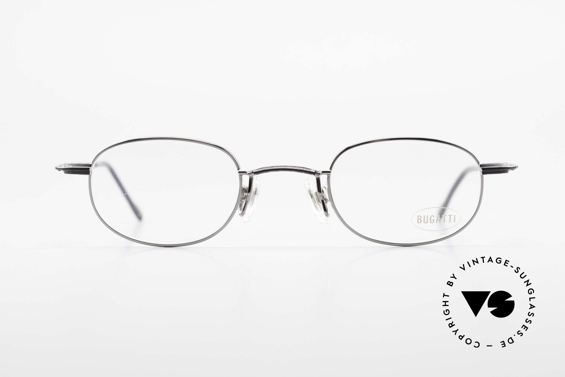 Bugatti 23562 Rare 90er Luxus Brillenfassung, circa Mitte der 90er J. in Frankreich produziert, Passend für Herren