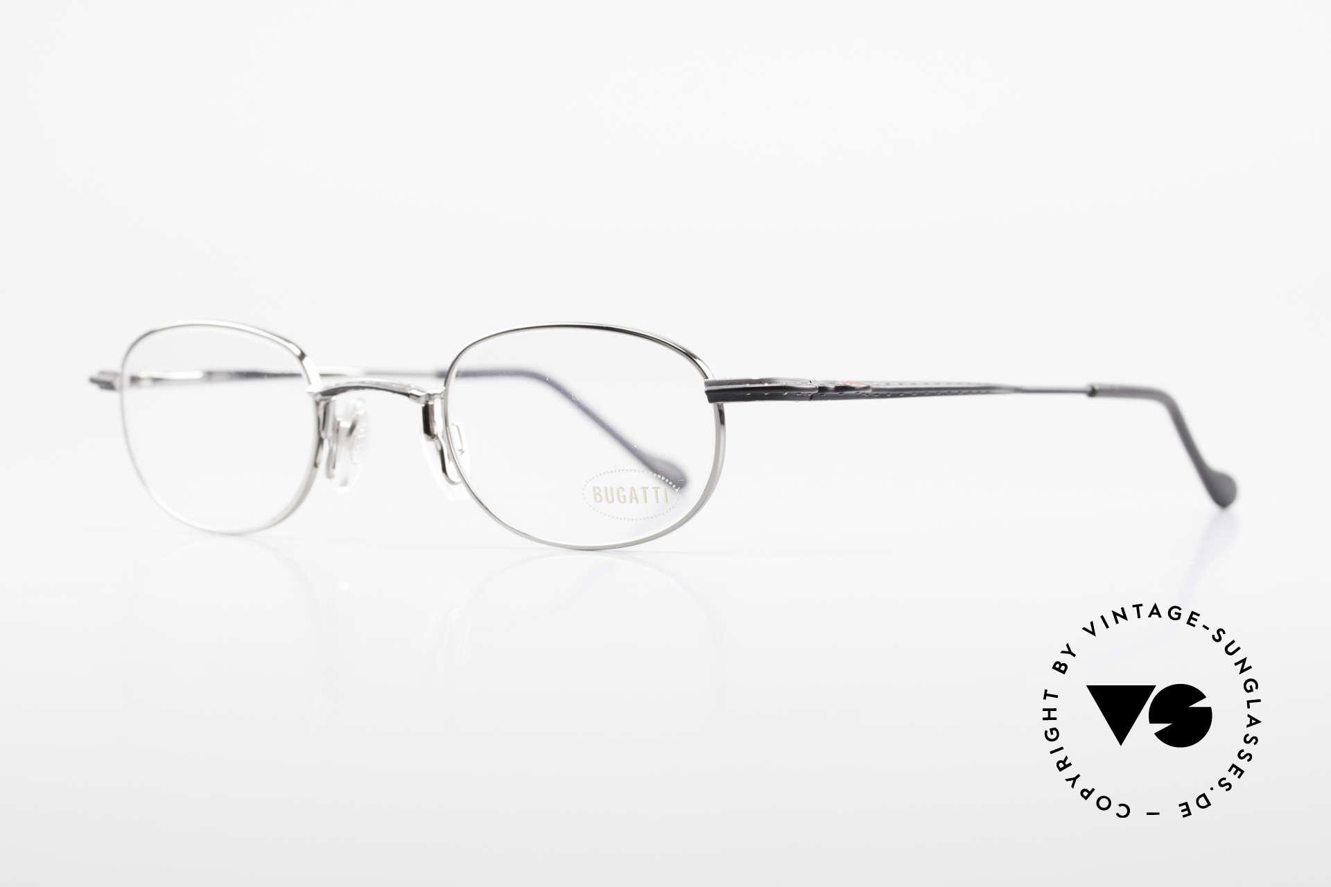Bugatti 23562 Rare 90er Luxus Brillenfassung, ergonomisch geformter Rahmen in Top-Qualität, Passend für Herren