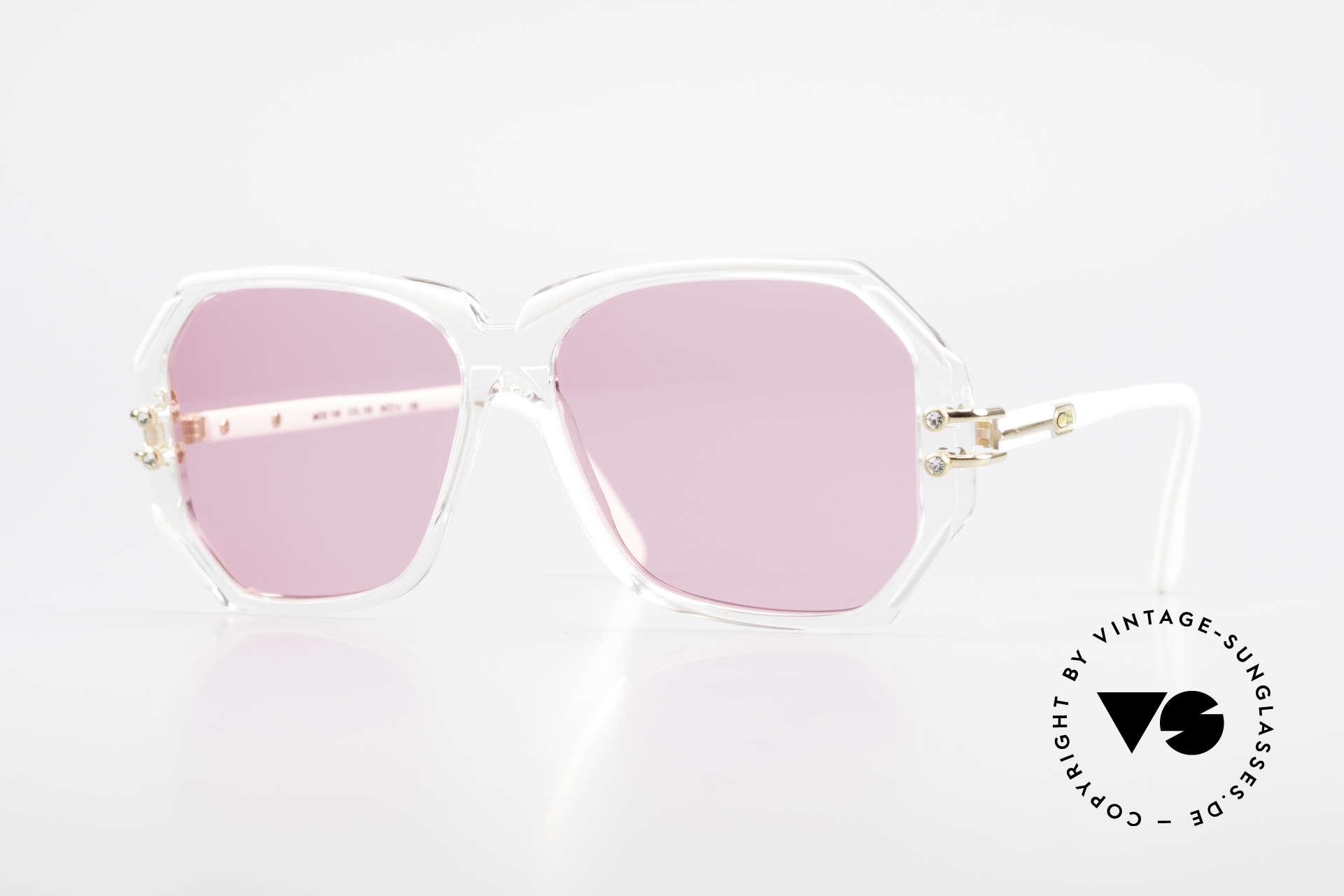 Cazal 169 Pinke Designer Sonnenbrille, extravagante vintage Designer-Sonnenbrille von CAZAL, Passend für Damen