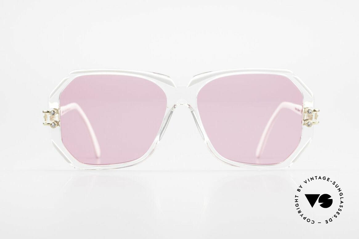 Cazal 169 Pinke Designer Sonnenbrille, 1989/90 (Frame Germany) gefertigt, MEDIUM Gr. 56-14, Passend für Damen