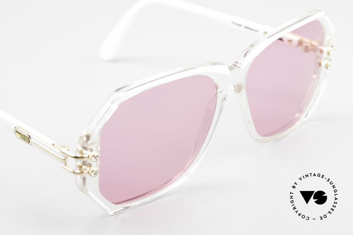 Cazal 169 Pinke Designer Sonnenbrille, ungetragen (wie all unsere alten Cazal vintage Originale), Passend für Damen
