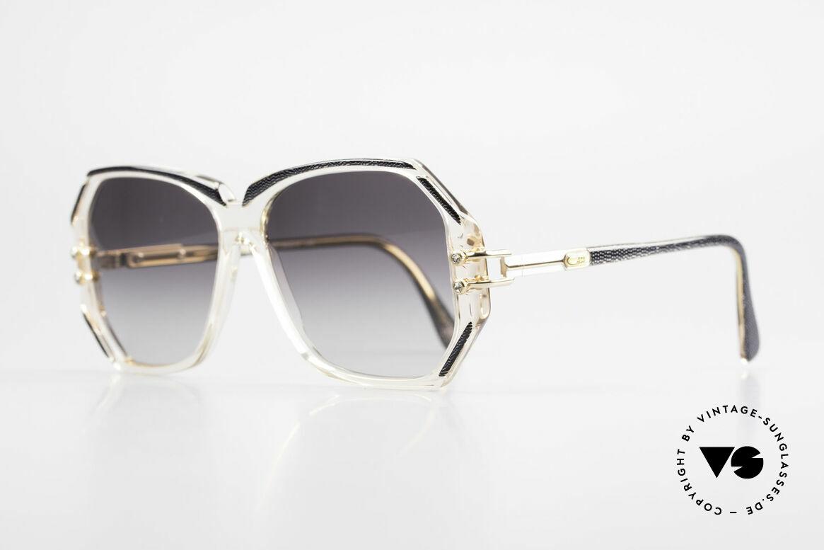 Cazal 169 Vintage Damen Sonnenbrille, kristallklare Fassung mit anthrazit-metallic Umrandungen, Passend für Damen