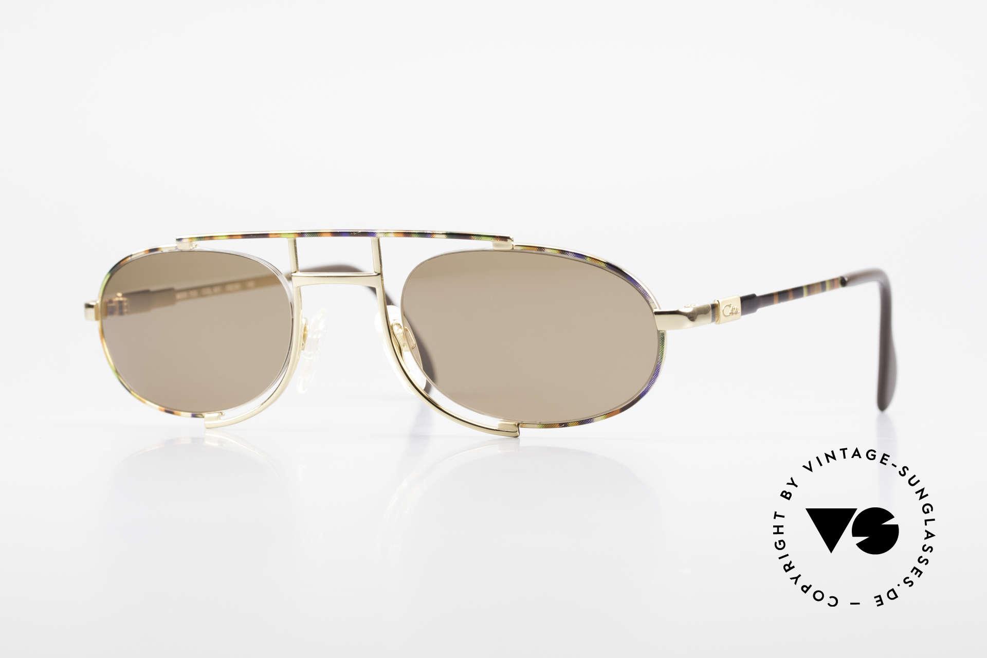 Cazal 753 Ovale Designer Sonnenbrille, ovale VINTAGE Sonnenbrille von CAZAL von 1992, Passend für Herren