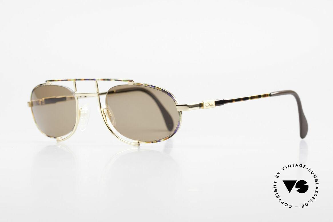 Cazal 753 Ovale Designer Sonnenbrille, mal etwas ganz anderes (wirklich ein Hingucker!), Passend für Herren