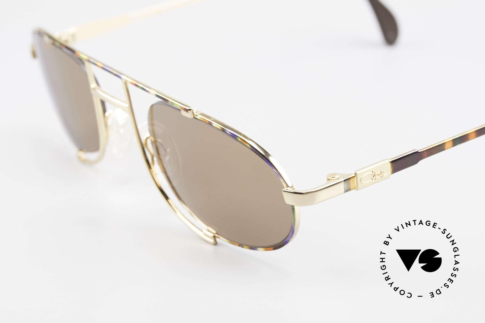 Cazal 753 Ovale Designer Sonnenbrille, herausragende Fertigungsqualität (Frame Germany), Passend für Herren