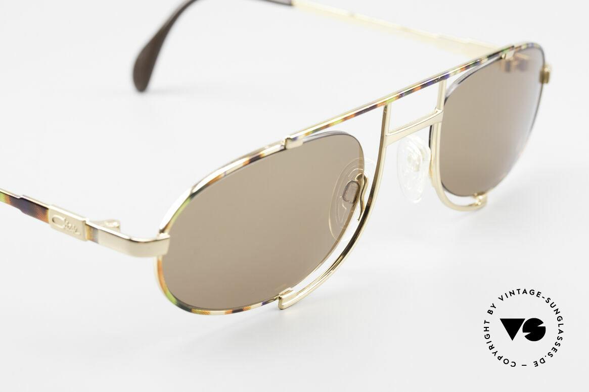 Cazal 753 Ovale Designer Sonnenbrille, orig. Farbbezeichnung: mais-pistazie-kupfer metallic, Passend für Herren