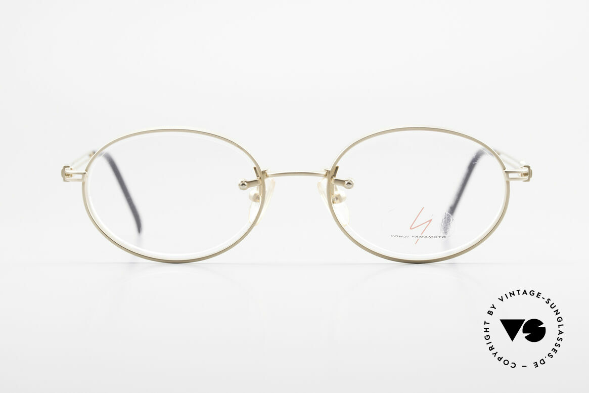 Yohji Yamamoto 51-5107 Designerbrille Oval Vergoldet, außergewöhnliche Rahmenkonstruktion, made in Japan, Passend für Herren und Damen