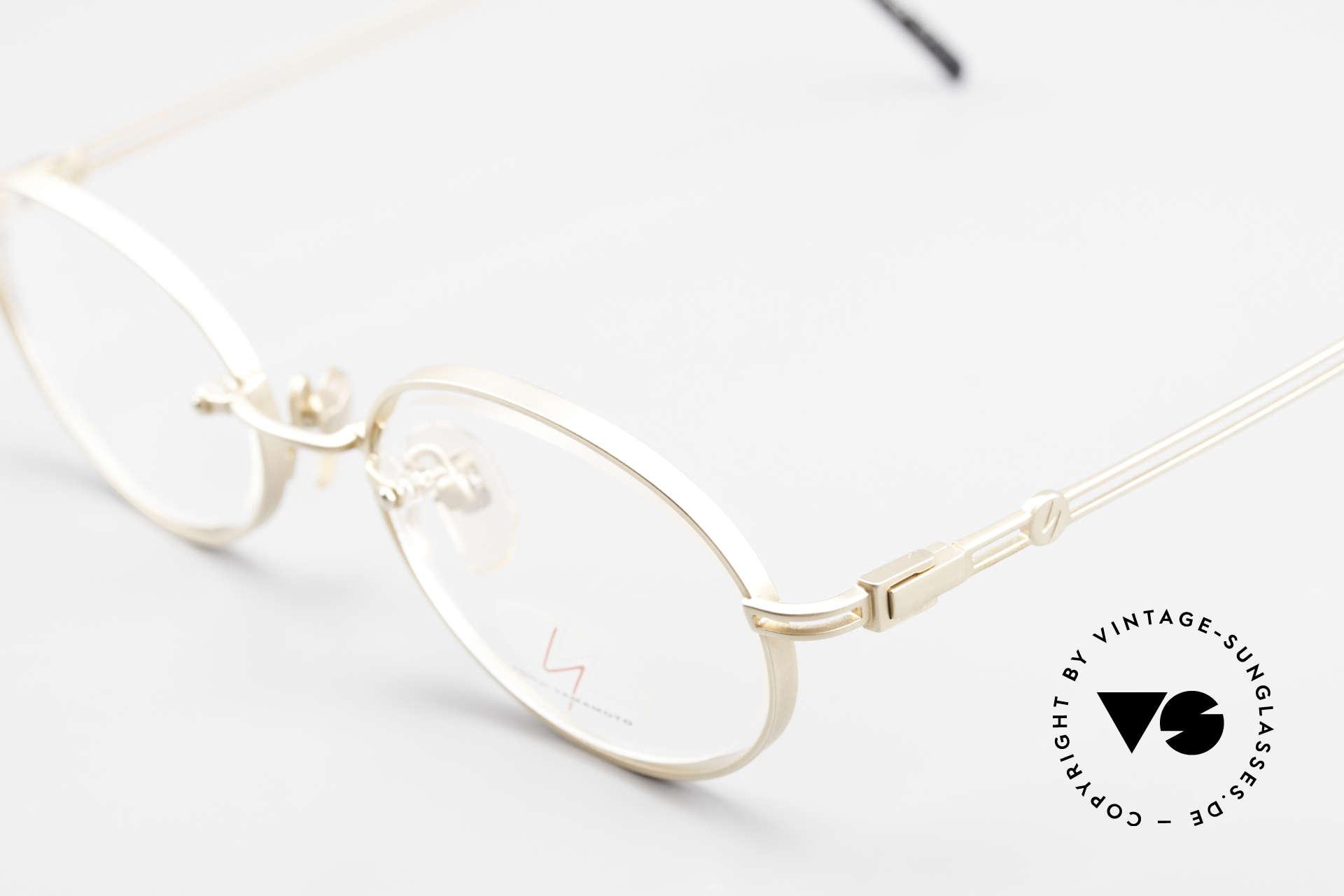 Yohji Yamamoto 51-5107 Designerbrille Oval Vergoldet, ungetragen (wie alle unsere vintage Designer-Brillen), Passend für Herren und Damen