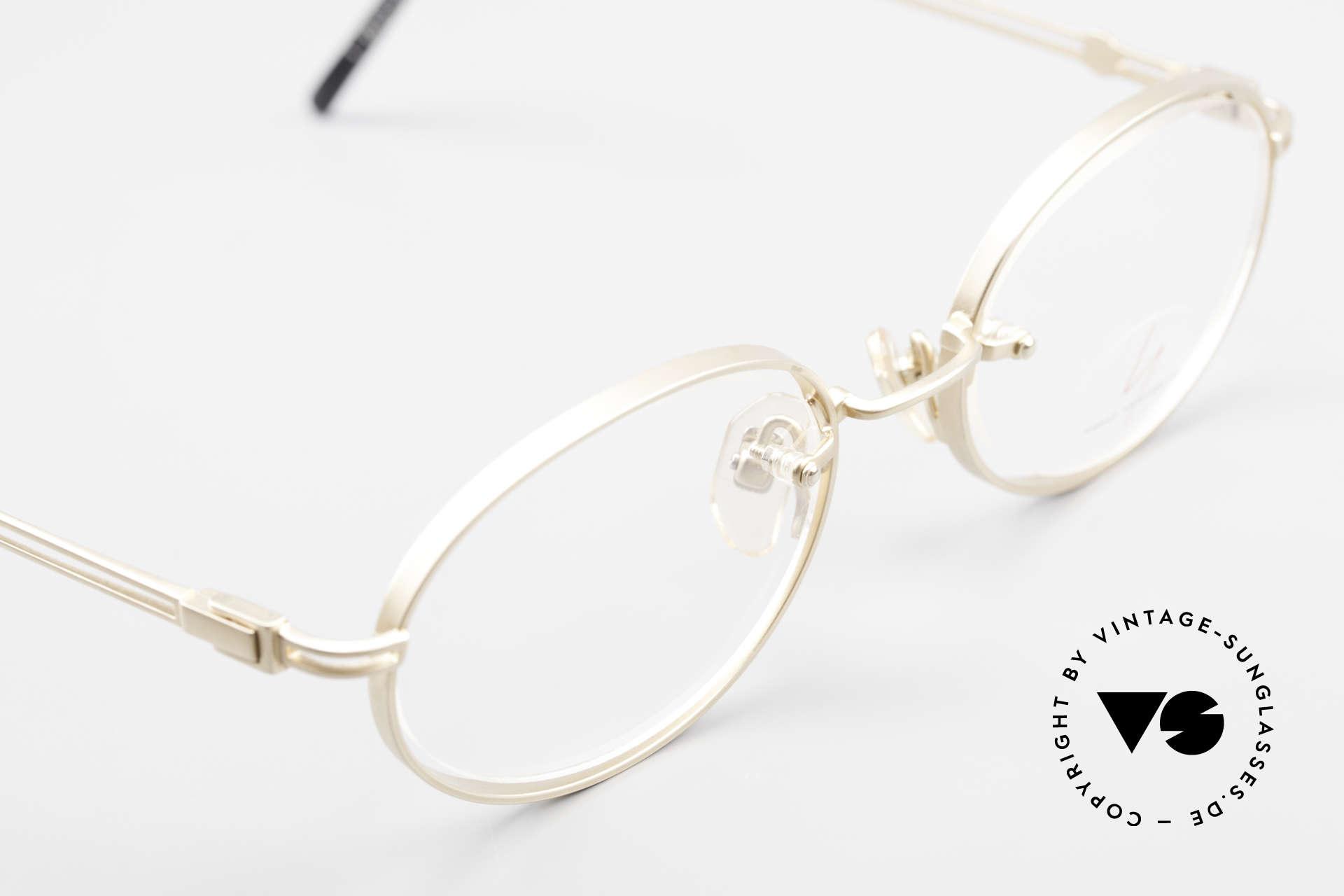 Yohji Yamamoto 51-5107 Designerbrille Oval Vergoldet, KEINE Retromode; sondern ein Yamamoto 90er Original, Passend für Herren und Damen