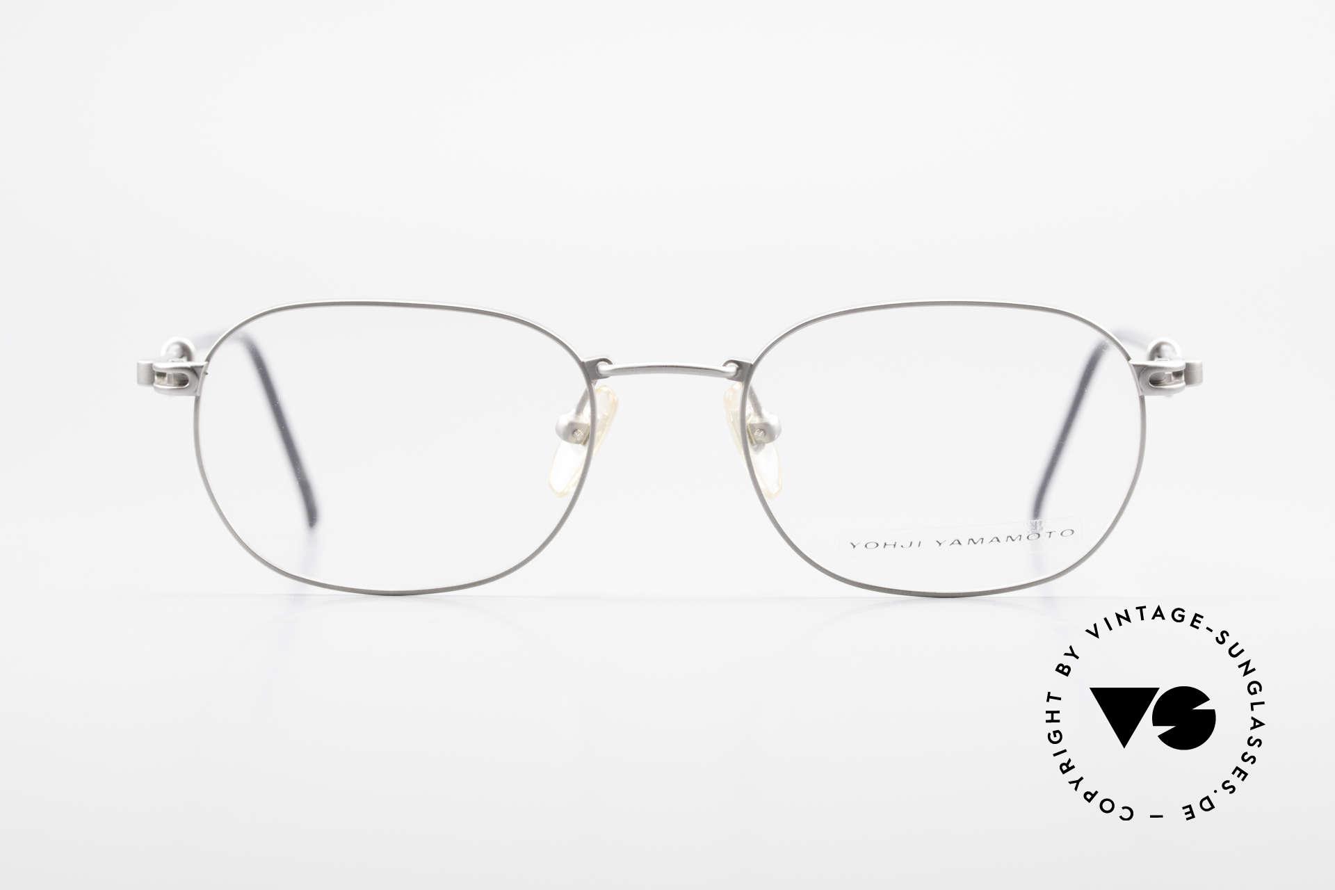 Yohji Yamamoto 51-4113 Titan Designerbrille Vintage, eher ein schlichtes Design aus dem Hause 'Yamamoto', Passend für Herren und Damen