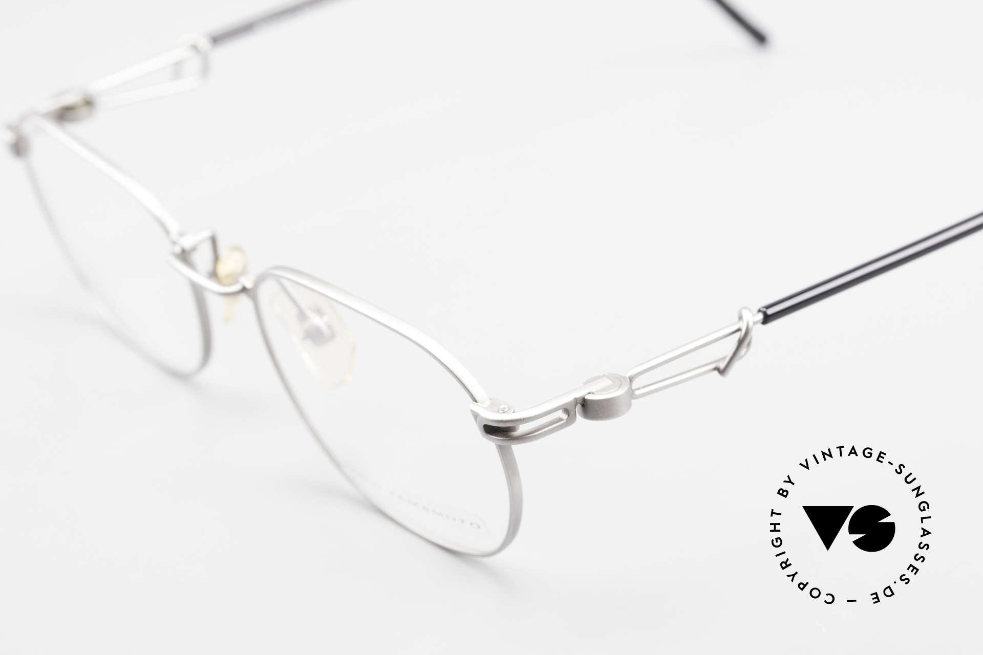Yohji Yamamoto 51-4113 Titan Designerbrille Vintage, KEINE RETROmode; sondern ein Original von ca. 1997, Passend für Herren und Damen