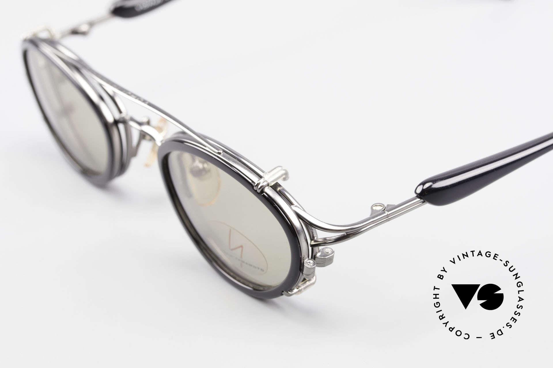 Yohji Yamamoto 51-7210 No Retro Brille Clip-On 90er, ein altes Yamamoto Original; KEINE neue Retrobrille!, Passend für Herren und Damen