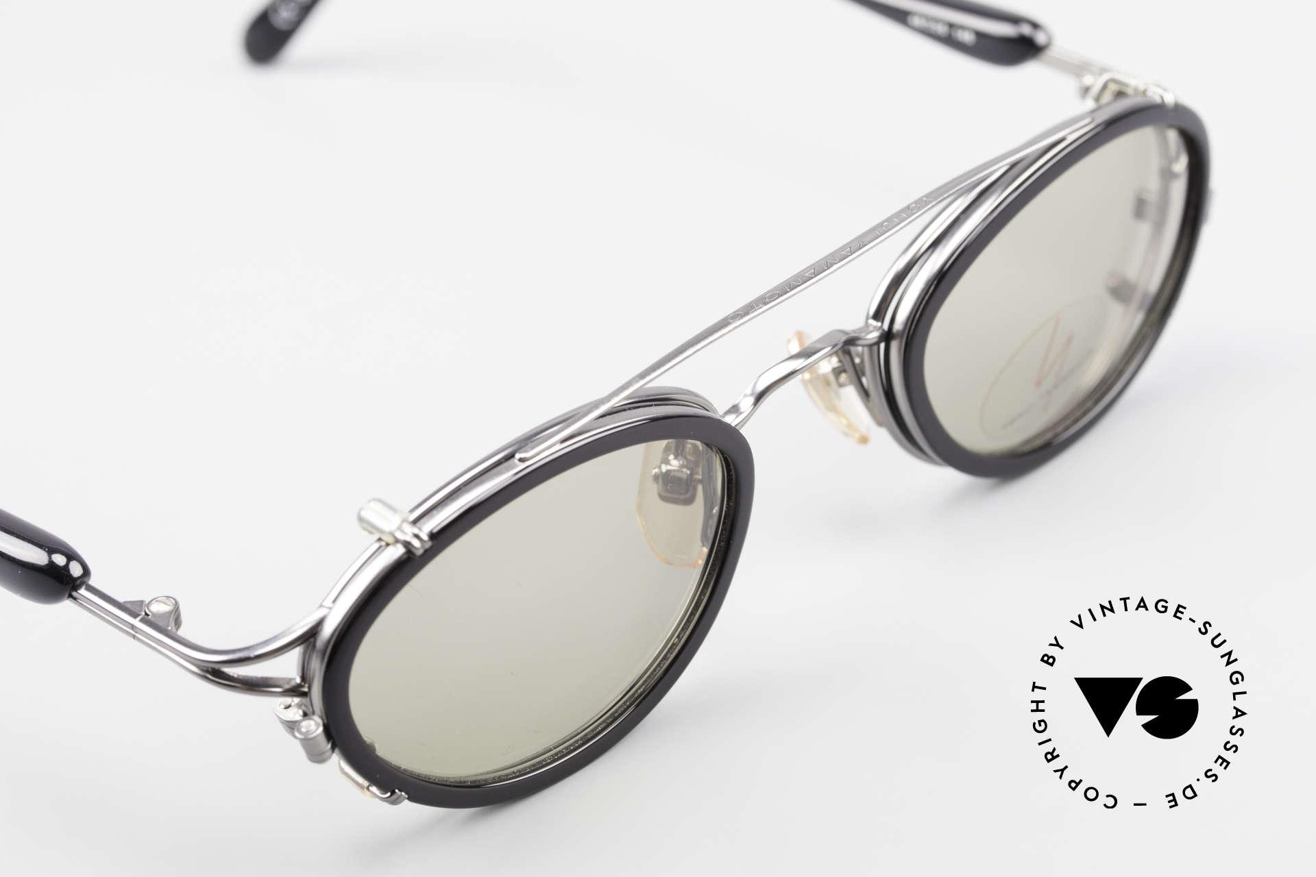 Yohji Yamamoto 51-7210 No Retro Brille Clip-On 90er, die Fassung kann natürlich beliebig verglast werden, Passend für Herren und Damen