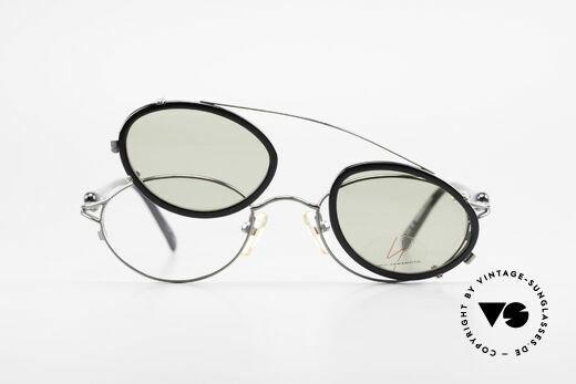Yohji Yamamoto 51-7210 No Retro Brille Clip-On 90er, Größe: small, Passend für Herren und Damen